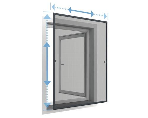 Moustiquaire cadre de fenêtre télescopique home protect anthracite 100x120cm