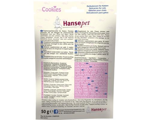 Friandise pour chat Hansepet Cookies émincé de poulet oméga 3 50 g