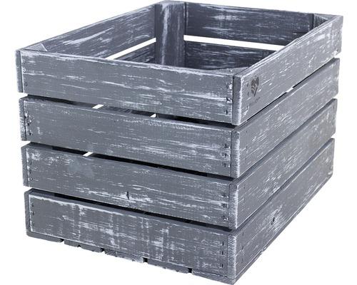 Caisse Buildify gris 44x33x28 cm