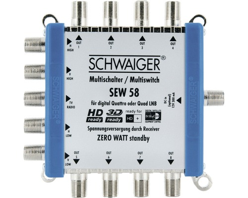 SAT contacteur multiple 5-8 jusqu''à 8participants Schwaiger SEW58531