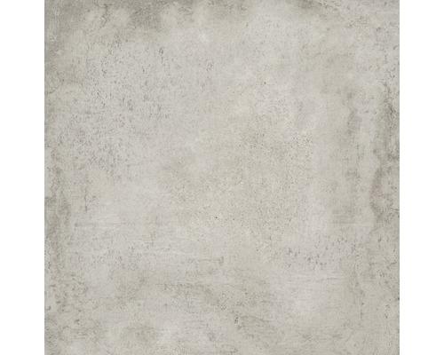 Dalle de terrasse en grès cérame fin Works ciment 60 x 60 x 2 cm R11 B