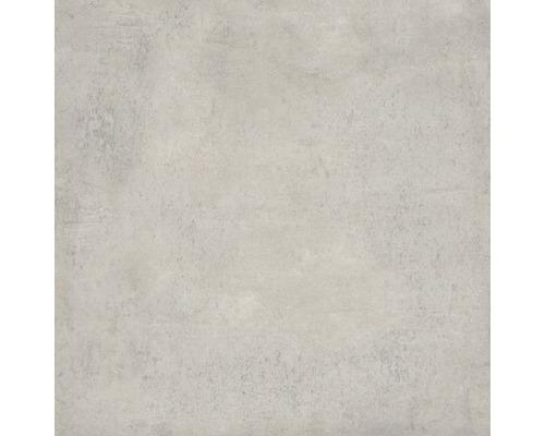 Carrelage pour sol et mur grès cérame fin Works gris clair 60x60cm pleine masse