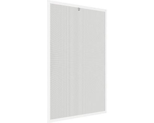 Moustiquaire cadre de fenêtre en alu home protect blanc avec raccord métallique 100x120cm