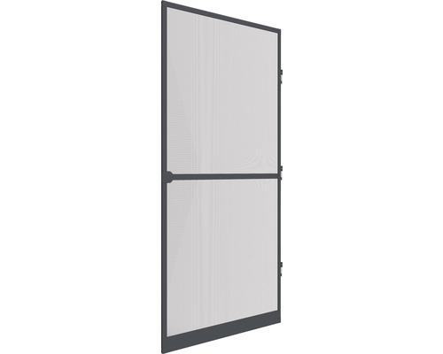 Moustiquaire de porte à cadre fixe en alu home protect anthracite 100x210 cm