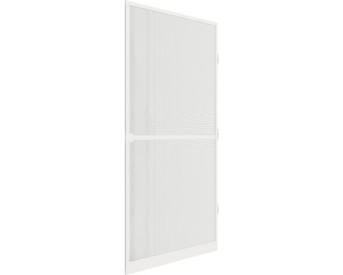 Moustiquaire de porte à cadre fixe en alu home protect blanc 100x210 cm