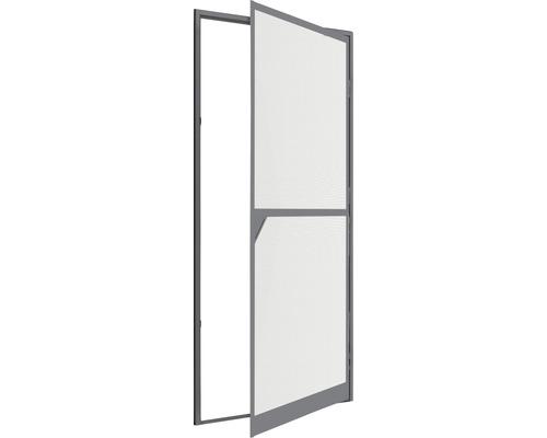 Moustiquaire de porte à cadre fixe en alu XL home protect anthracite cadre à clipser 120x240 cm
