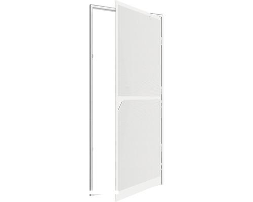 Moustiquaire de porte à cadre fixe en alu XL home protect blanc cadre à clipser 120x240 cm