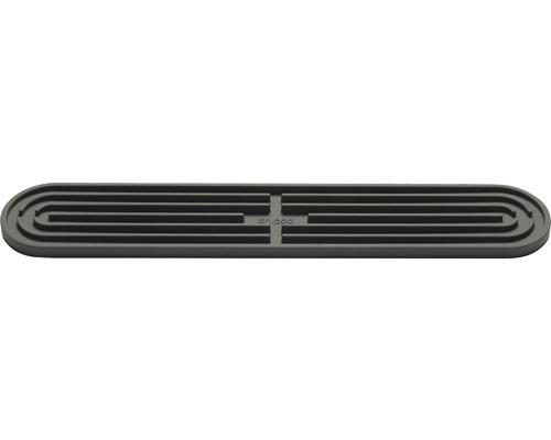Tapis égouttoir 43x7,8cm gris basalte