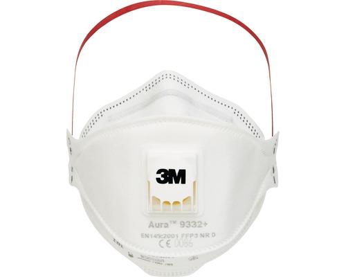 Masque de protection respiratoire 3M™ 9332 Pro 10, 10 pièces, classe de protection FFP3 EN 149:2001 + A1:2009