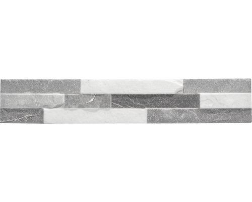 Pierre de parement en grès cérame fin UltraStrong Bologna Stone Grey 8x44,5cm