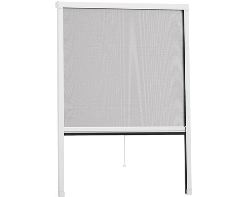 Store moustiquaire fenêtre en alu home protect easyHOLD blanc 80x130cm