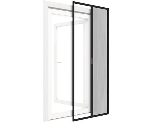 Moustiquaire de porte à enroulement en alu home protect autoSTOP anthracite 150x220cm