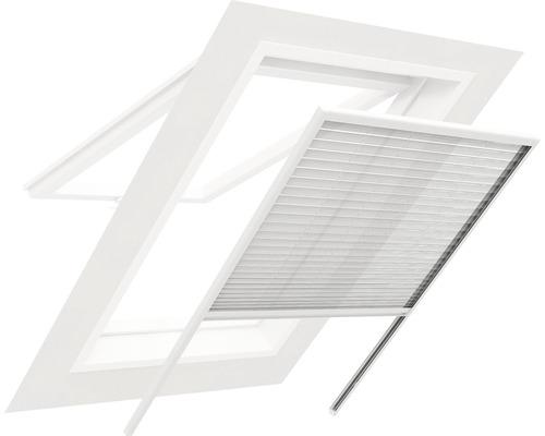 Store plissé à moustiquaire pour fenêtre de toit en alu home protect blanc 130x160cm