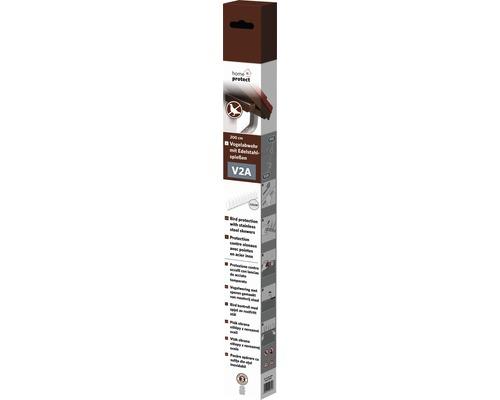 Protection contre les oiseaux avec pics en acier inoxydable home protect 60 pics, 200cm