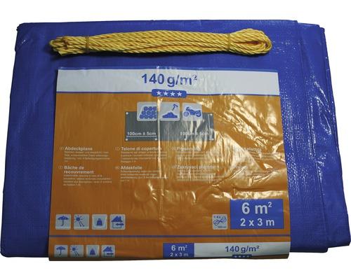 Bâche textile 140 g/m² argent-bleu 2 x 3 m