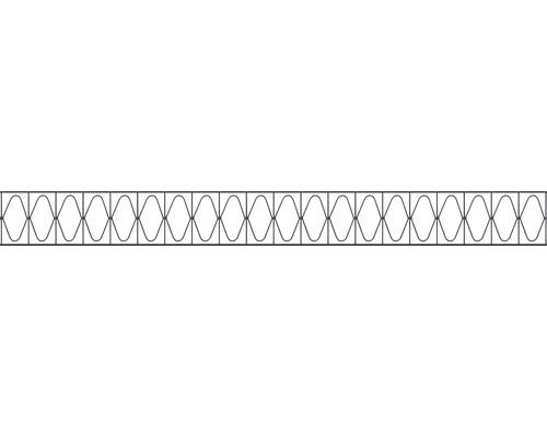 Élément décoratif pour clôture à grillage double Eleganz 200x20cm, anthracite