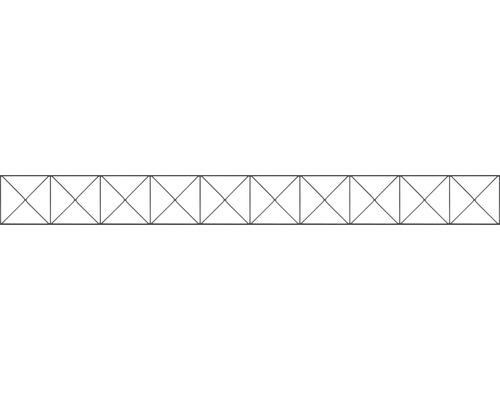 Élément décoratif pour clôture à grillage double Nexus 200x20cm, anthracite