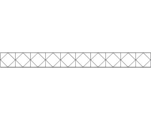 Élément décoratif pour clôture à grillage double Bergen 200x20cm, anthracite