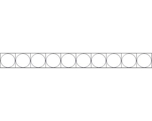 Élément décoratif pour clôture à grillage double Oslo 200x20cm, anthracite