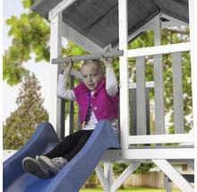 Tour de jeux Beach Tower en bois bleu avec balançoire double-thumb-3