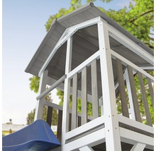 Tour de jeux Beach Tower en bois bleu avec balançoire double-thumb-5