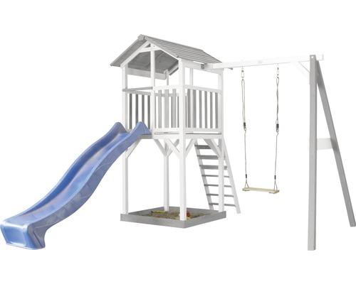 Tour de jeux Beach Tower en bois avec balançoire simple-0