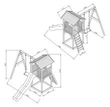 Tour de jeux Beach Tower en bois avec balançoire simple-thumb-2