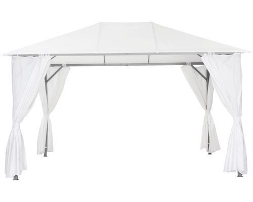 Pavillon Kabara de 4 x 3 x 2,8m en polyester de 180g/m² blanc