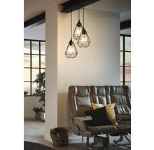 Lampe à suspension Tarbes à trois flammes cuivre Ø 310 mm-thumb-0