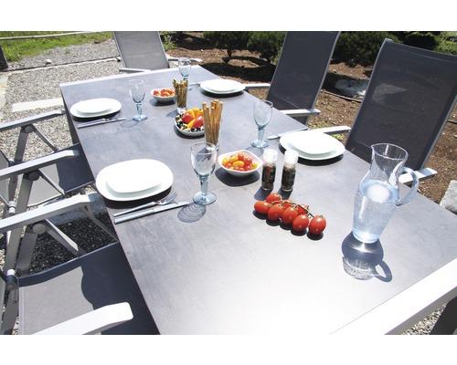 Set de meubles de jardin Acamp acatop 4 places 5 pièces argent extractible rabattable