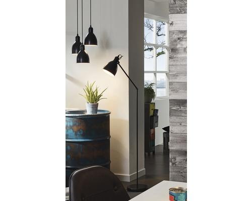 Lampadaire 1 ampoule H1370mm Priddy noir/blanc