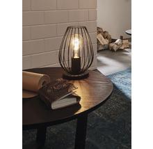 Lampe de table Newtown 1 ampoule noire H 230 mm-thumb-0