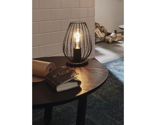 Lampe de table Newtown 1 ampoule noire H 230 mm-0