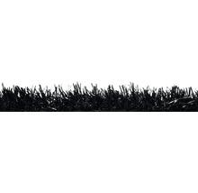 Gazon synthétique Happy noir largeur 400 cm (au mètre)-thumb-1