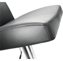 Barhocker Mayer Sitzmöbel myBreak 1260E-37 36x40x87-110 cm Gestell edelstahl Sitz schwarz-thumb-2