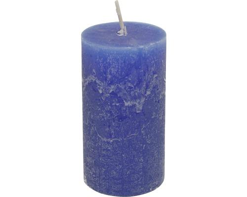Bougie Rustic Ø 6,8 x h 12 cm bleu