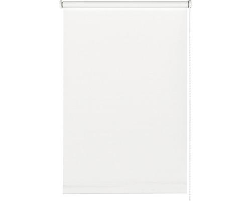 Store à clipser avec guidage latéral sans perçage uni blanc 90x210cm avec support à