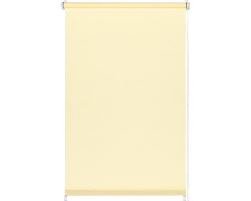 Store à clipser avec guidage latéral sans perçage uni crème 75x150 cm avec support de serrage