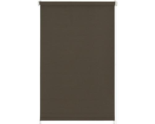 Store à clipser avec guidage latéral sans perçage uni marron chocolat 100x150 cm avec support de serrage