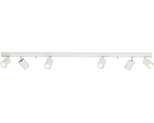 Spot de plafond métal à 6ampoules Different blanc hxlxp 145x1190x93mm
