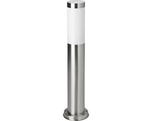 Borne extérieure acier inoxydable et plastique IP44 à 1 ampoule Chorus acier inoxydable blanc hxØ 510x75 mm