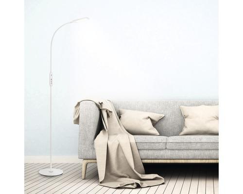 Lampadaire à LED à intensité lumineuse variable CCT 1x8W 700lm 3000K - 6500K blanc chaud - blanc lumière du jour H1400m avec télécommande