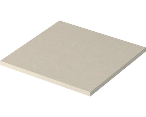 Plaque de recouvrement Top Qube 45 cm brossé blanc