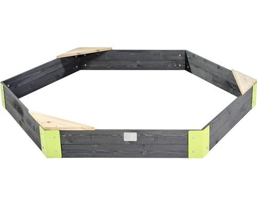 Bac à sable EXIT Aksent en bois 200x170 cm-0