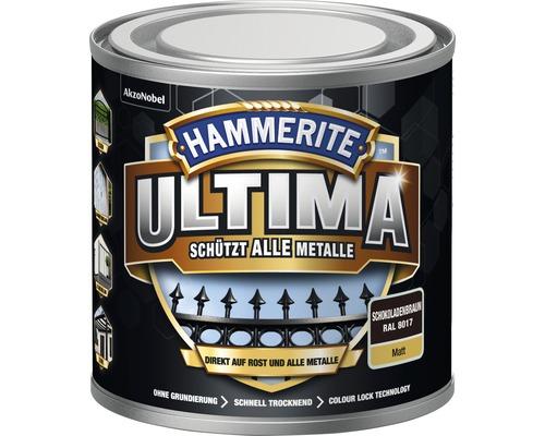 Laque de protection pour métaux Hammerite Ultima Ral 8017 marron chocolat mat 250 ml