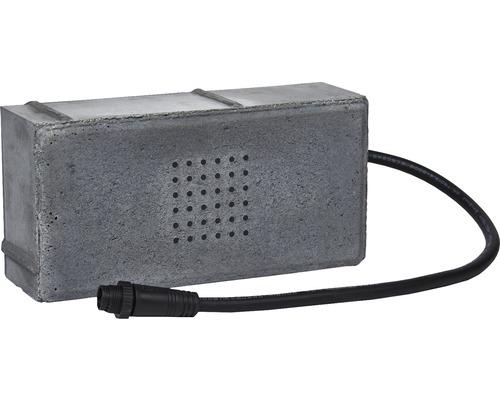 Pavé rectangulaire pavé lumineux à LED gris foncé 20 x 10 x 6 cm