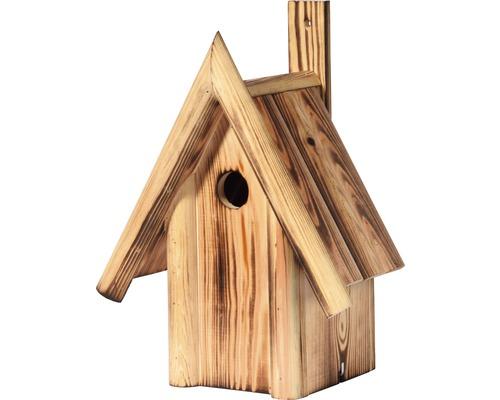Nichoir avec toit pointu en bois moiré 25,5x17,5x33cm