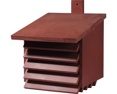 Hôtel à insectes, grande boîte à chrysopes, 27x30x29cm rouge