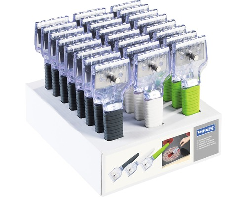 Grattoir Expert avec 3 lames de rechange en acier inoxydable assorti choix de couleurs aléatoire