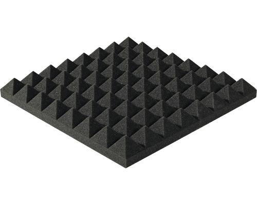 Mousse acoustique Akupur panneau à pyramides 40x40x7 cm